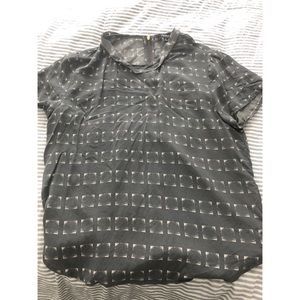 Premise Studio grey patterned blouse